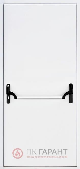 Металлическая входная дверь модели Однопольная ДПМ-01 №5 EI-60 с замком «Апекс Антипаника» и ручкой «Push Bar», внутренняя сторона